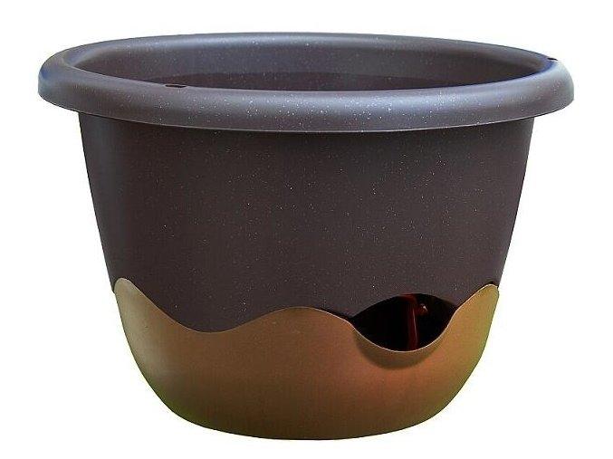 Květináč Mareta - čokoládová + bronzová 30cm