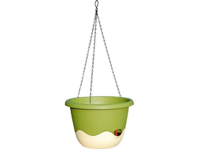 Květináč Mareta - zelená světlá + slon.kost tmavá 25cm