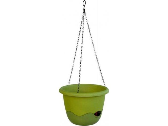 Květináč Mareta - zelená světlá + tmavá 25cm