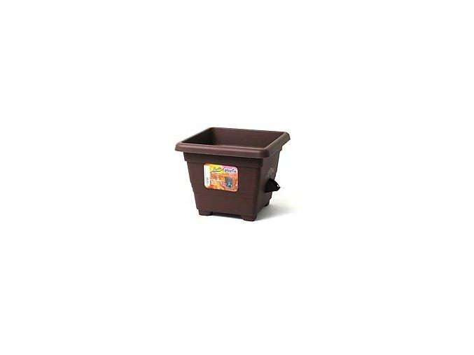 Květináč samozavlažovací Bergamot - čokoládový 35x35cm