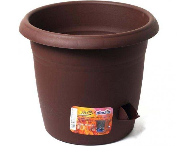 Květináč samozavlažovací Siesta - čokoládový 25cm