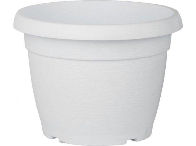 Květináč Similcotto broušený - bílý 25cm