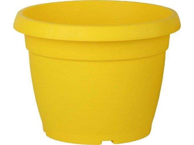 Květináč Similcotto broušený - žlutý 25cm