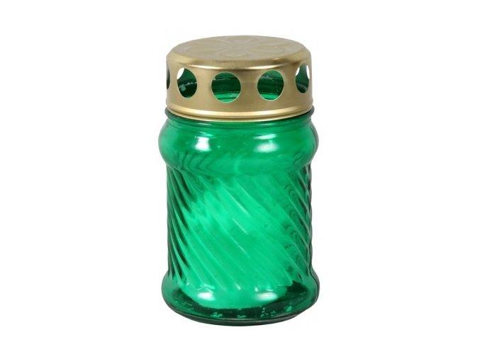 Lampička hřbitovní válec 50g - zelená