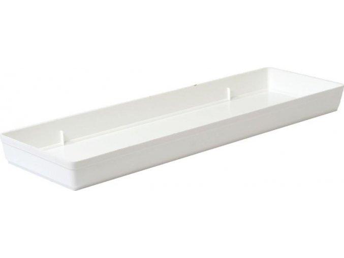 Miska pod truhlík hladká - bílá 60cm