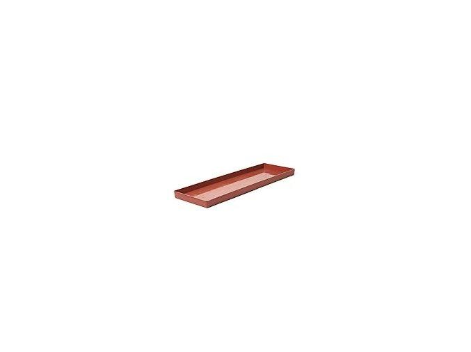 Miska pod truhlík hladká - terakota 50cm