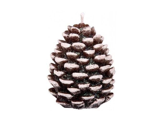 Svíčka Vánoční Šiška - hnědá
