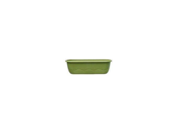 Truhlík samozavlažovací Mareta - světle zelená + tmavě zelená 80cm