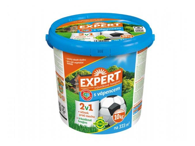 Hnojivo EXPERT krystalické 2v1 trávníkové s vápencem 10kg