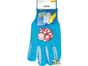 Dětské rukavice modré Stocker