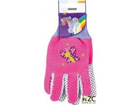 Dětské rukavice růžové Stocker