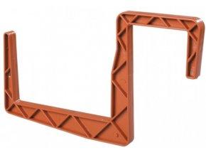 Držák na truhlík hranatý teracota 2ks - 12cm
