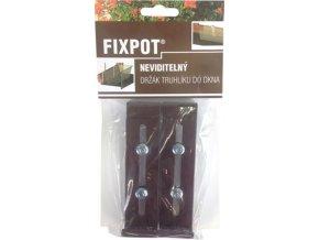 Držák na truhlík parapet - Fixpot kovový hnědý (2ks)