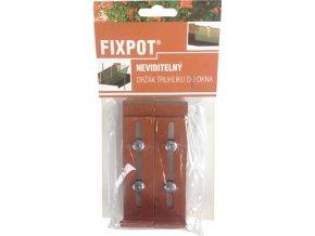 Držák na truhlík parapet - Fixpot kovový terakota (2ks)