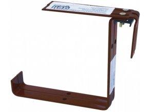 Držák truhlíku kovový 2ks - hnědý