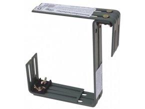 Držák truhlíku nastavitelný kovový dvojitý 2ks - antracitový