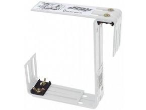 Držák truhlíku nastavitelný kovový dvojitý 2ks - bílý