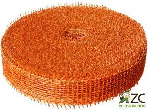 Jutová stuha 4cm x 25m - oranžová