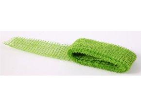 Jutová stuha 5cm x 2m - světle zelená