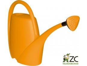 Konev - 4,5l Spring oranžová s kropítkem