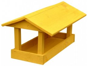 Krmítko č.10 dřevěné žluté 24x40x20cm