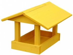 Krmítko č.11 dřevěné žluté 24x30x20cm