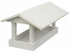 Krmítko č.16 dřevěné bílé 24x40x20cm