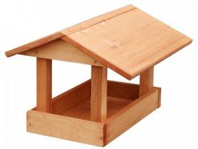 Krmítko č.19 dřevěné hnědé 24x30x20cm