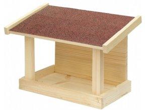 Krmítko č.20 dřevěné jednostranné 30x16x21cm