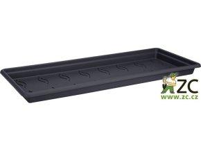 Miska pod truhlík Green Basics Garden XXL - 80cm living black