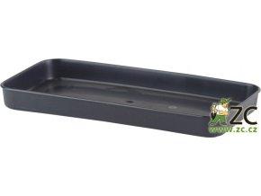 Miska pod truhlík malý - antracit 20cm
