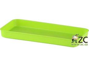 Miska pod truhlík malý - hráškově zelená 20cm