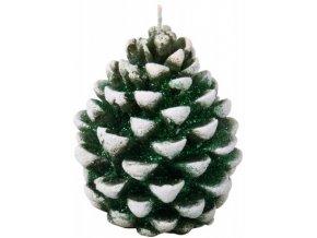 Svíčka Vánoční Šiška - zelená