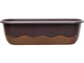Truhlík samozavlažovací Mareta - čokoládová + bronzová 60cm