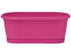 Truhlík Similcotto mini s miskou - tmavě růžový 32cm