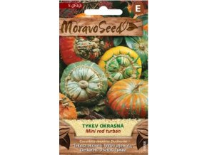 59003 tykev okrasna mini red turban moravoseed