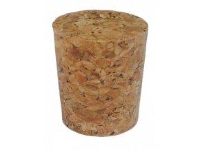 Zátka korková pro lahve 1-3 litrové lahve 2,4x2,8cm