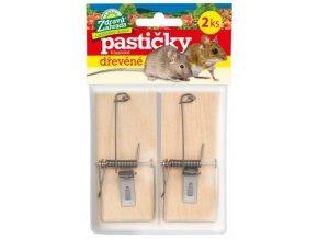 Zdravá zahrada - Pastička na myš dřevěná 2ks