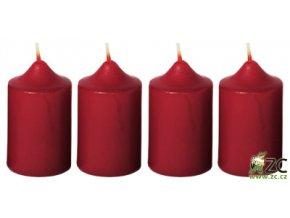 Svíčka adventní - bordó (4ks)