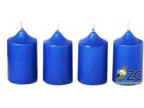 Svíčka adventní - modrá (4ks)