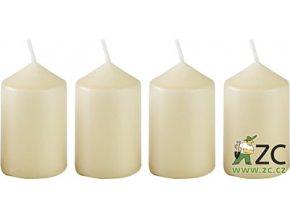 Svíčka adventní - slonovinová (4ks)