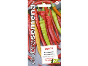 Paprika zeleninová Beros - beraní roh 0,6g - DOBRÁ SEMENA