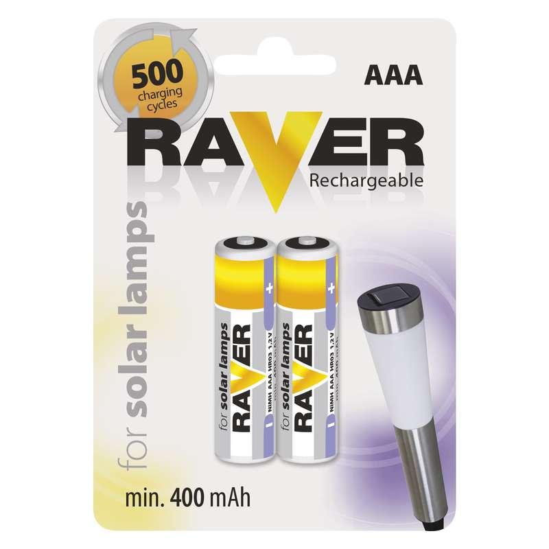 Raver baterie nabíjecí HR03 (AAA), 2 ks v blistru