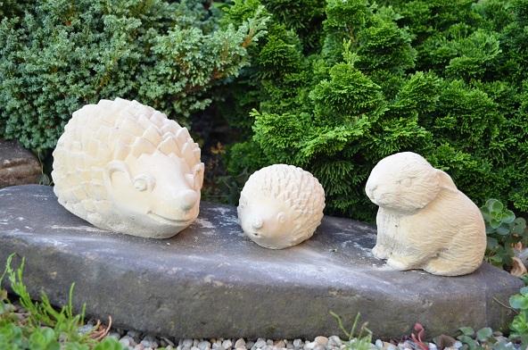 Set zvířata 3 ks ježek velký, ježek malý, králík