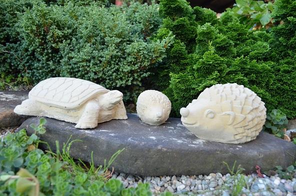 Set zvířata 3 ks ježek velký, ježek malý, želva
