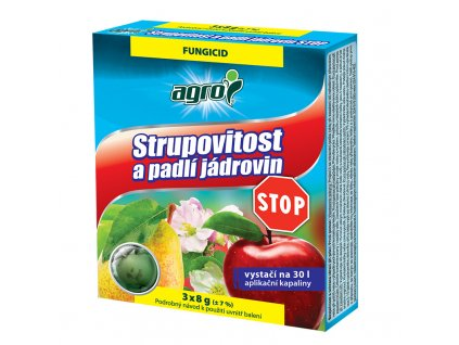 AGRO Strupovitost a padlí jádrovin STOP 3 x 8 g