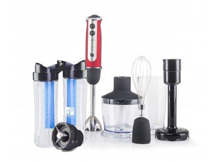 63467 set g21 mixer vitalstick 800 w red black smoothie maker