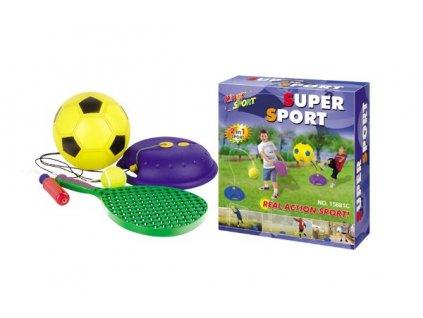 64803 hraci set g21 mic fotbalovy a tenisovy s raketou na provazku