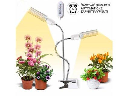 91820 hydroponie domaci zahradka led osvetleni s klipsnou a casovacem 45w