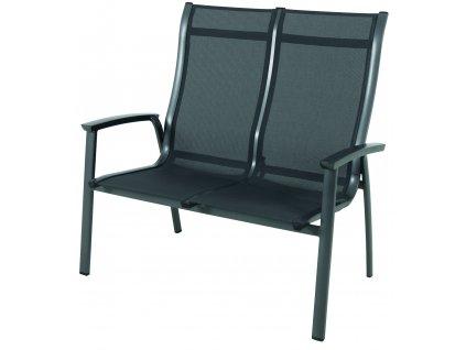 Garland Royal Richmond - hliníková stohovatelná lavice 74,5 x 113 x 108,5 cm